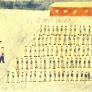 """Thomas Geve """"Apell"""", Nr. 22, 15 x 10cm, Bleistift, Farbstift und Wasserfarben auf Papier, Schweiz 1945. Mit freundlicher Genehmigung von Thomas Geve."""