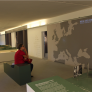 """Projektion """"Wege der Zwangsarbeiter"""". Dauerausstellung »Alltag Zwangsarbeit 1938-1945« © Dokumentationszentrum NS-Zwangsarbeit. Foto: Bianca Schröder"""